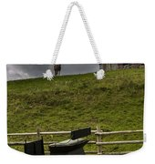 Horse Watching The Carriage Weekender Tote Bag by Darcy Michaelchuk