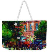Horsedrawn Carriage Weekender Tote Bag