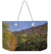 Horses And Autumn Landscape Weekender Tote Bag
