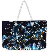 Horses Frolic On A Starlit Night Weekender Tote Bag by Carol Law Conklin