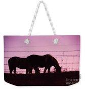 Horses Grazing At Dawn  Weekender Tote Bag