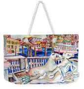Horses On The Grand Canal Of Venice Weekender Tote Bag