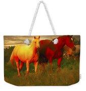 Horses Soft And Sweet Weekender Tote Bag