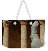 Horus Temple Of Edfu Egypt Weekender Tote Bag by Bob Christopher