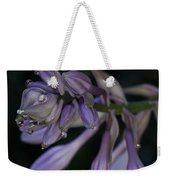Hosta Blossoms With Dew Drops 6 Weekender Tote Bag