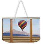 Hot Air Balloon Colorado Wood Picture Window Frame Photo Art Vie Weekender Tote Bag