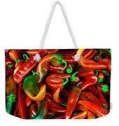 Hot Peppers Weekender Tote Bag by Robert Bales