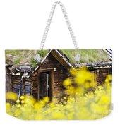House Behind Yellow Flowers Weekender Tote Bag by Heiko Koehrer-Wagner
