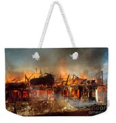 House On Fire Weekender Tote Bag