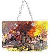 Houses In Fire Weekender Tote Bag