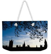 Houses Of Parliament Silhouette Weekender Tote Bag