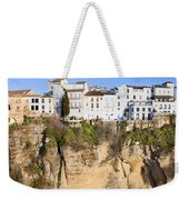 Houses On A Cliff In Ronda Town Weekender Tote Bag