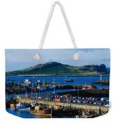 Howth Harbour & Irelands Eye, Co Weekender Tote Bag