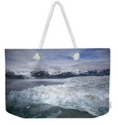 Hubbard Glacier Encroaching On Gilbert Point Weekender Tote Bag
