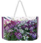 Hues Of Purple Phlox Weekender Tote Bag