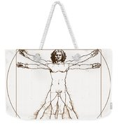 Human Body By Da Vinci Weekender Tote Bag