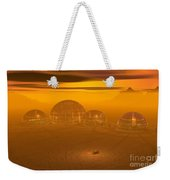 Human Settlement On Alien Planet Weekender Tote Bag
