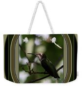 Hummingbird - Card - Glint Of The Eye Weekender Tote Bag
