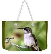 Hummingbird - Gold And Green Weekender Tote Bag