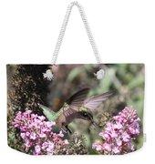 Hummingbird - Ruby-throated Hummingbird - Chopper Weekender Tote Bag