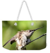 Hummingbird - Ruby-throated Hummingbird - Stretch Time Weekender Tote Bag