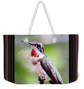 Hummingbird Card Weekender Tote Bag