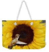 Hummingbird On Sunflower Weekender Tote Bag