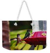 Hummingbirds At The Feeder Weekender Tote Bag