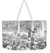Humphrey Davy Lecturing, 1809 Weekender Tote Bag by Science Source