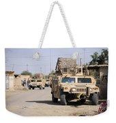 Humvees Conduct Security Weekender Tote Bag