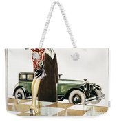 Hupmobile Ad, 1926 Weekender Tote Bag