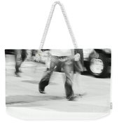 Hurry Up Weekender Tote Bag by Aimelle