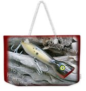 Husband Anniversary Card - Saltwater Fishing Lure - Popper Weekender Tote Bag