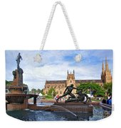 Hyde Park Fountain And St. Mary's Cathedral Weekender Tote Bag