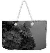 Hydrangea Boquet Black And White Weekender Tote Bag