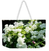 Hydrangeas And A Rose Weekender Tote Bag