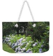 Hydrangeas In Bloom Along A Landscaped Weekender Tote Bag