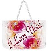 I Love You Card 1 Weekender Tote Bag