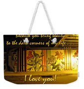 I Love You Night Graffiti Greeting Card Weekender Tote Bag