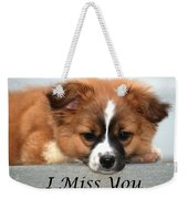 I Miss You Card Weekender Tote Bag