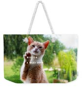 I Want Food Cat Weekender Tote Bag