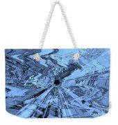 Ice Blue - Abstract Art Weekender Tote Bag by Carol Groenen