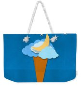 Ice Cream Design On Hand Made Paper Weekender Tote Bag by Setsiri Silapasuwanchai