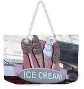 Ice Cream Sign Weekender Tote Bag