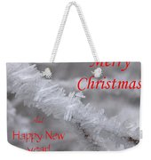 Ice Crystal Christmas Weekender Tote Bag