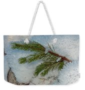 Ice Crystals And Pine Needles Weekender Tote Bag