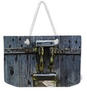 Ice Crystals On Wooden Gate Weekender Tote Bag