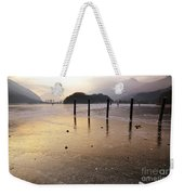 Ice On A Lake In Sunset Weekender Tote Bag
