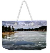 Ice On The Yellowstone River Weekender Tote Bag