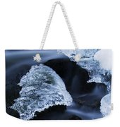 Ice Patches In Stream, Bavarian Forest Weekender Tote Bag